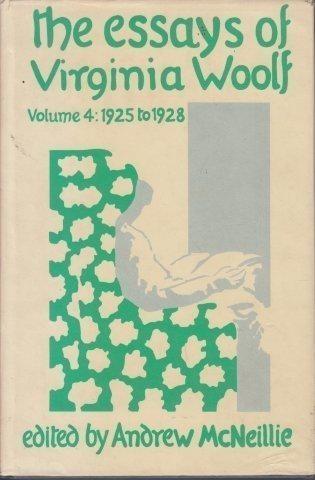 The Essays Of Virginia Woolf Volume 4 Reynolds asks