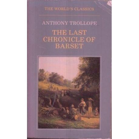 The Last Chronicle Of Barset (World's Classics)