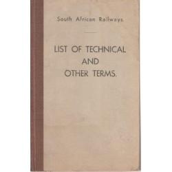 South African Railways SAR-SAS List of Technical & Other Terms
