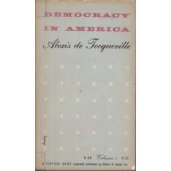 Democracy In America Vol. 1