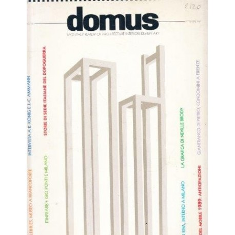 DOMUS Monthly Review of Architecture Interiors Design Art 1989 No 708