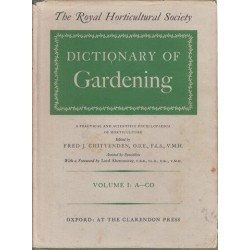 The Royal Horticultaral Society Dictionary of Gardening Vols. 1-4