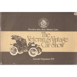 The Veteran & Vintage Car Show. Souvenir Programme 1978