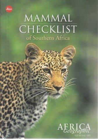 Mammal Checklist, Africa Geographic