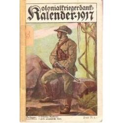 Kolonialkriegerdank-kalender fur das Jahr 1917