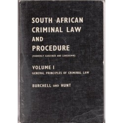 South African Criminal Law and Procedure