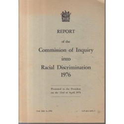 Report of the Commission into Racial Discrimination
