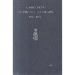 A Register of Rhodes Scholars 1903-1981