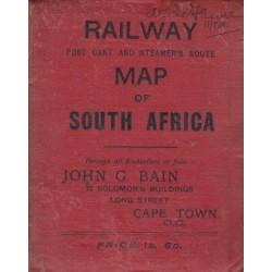 Bain's Railway Map of South Africa