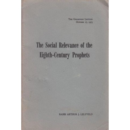 The Social Relevance of the Eighth-Century Prophets