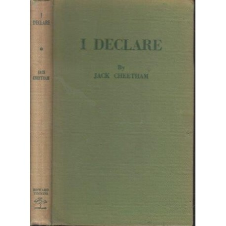 I Declare (Signed by Author)