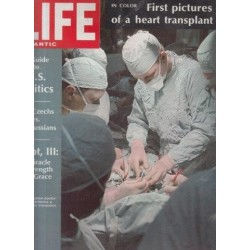 Life Magazine Volume 45, No. 4 Aug 19 1968.jpg First Pictures of a Heart Transplant
