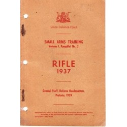 Rifle 1937 - Small Arms Training Vol. 1 Pamphlet 3
