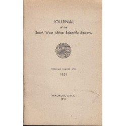 Journal of the South West Africa Scientific Society Vol. VIII