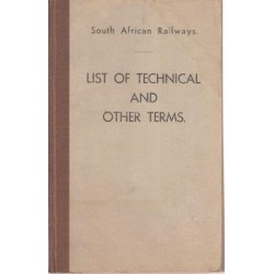South African Railways SAR-SAS List of Technical & Other Terms