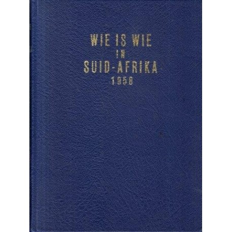 Wie is Wie in Suid-Afrika 1958