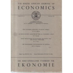 The South African Journal of Economics (Vol. 29, No. 4)