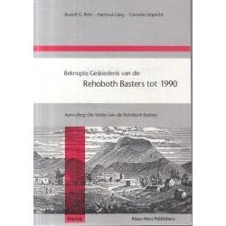 Beknopte Geskiedenis van die Rehoboth Basters tot 1990
