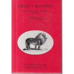 Griqua Records - the Philippolis Captaincy