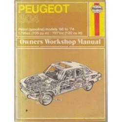 Peugeot 504 Owners Workshop Manual - Petrol models 68-74