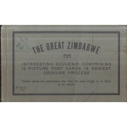 Great Zimbabwe - Interesting Souvenir Comprising 12 Picture Post Cards in Newest Gravure Process