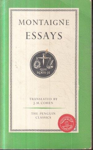 Essays montaigne sparknotes