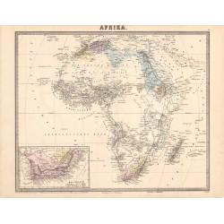 Map of Afrika (Hoffmann)